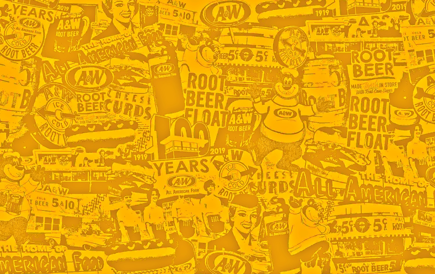 Yellow 100th Anniversary Collage