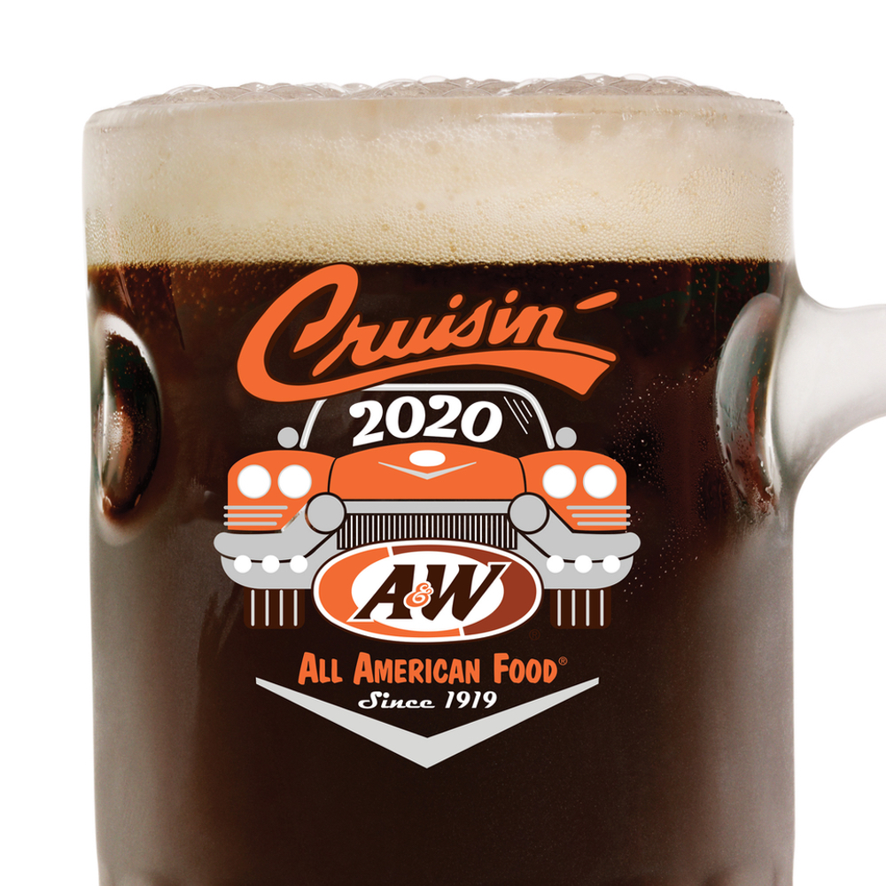 Photo of A&W 2020 Collector's Mug filled with Root Beer.