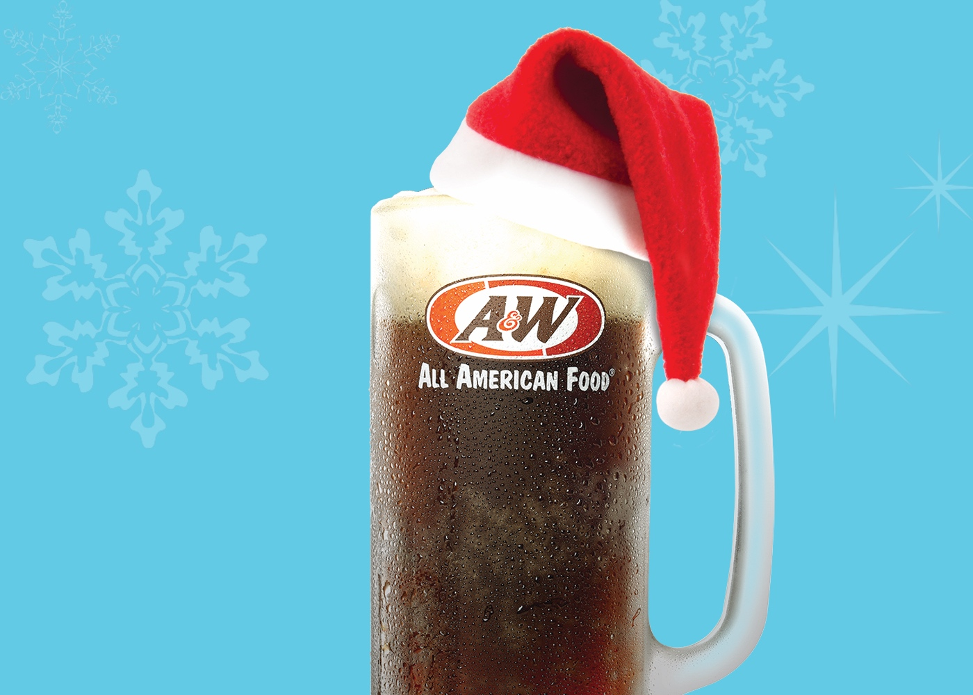 A&W Root Beer Mug with Santa hat