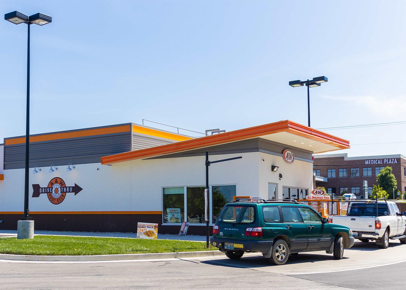 Photo of A&W Restaurant drive-thru in Richmond, KY.