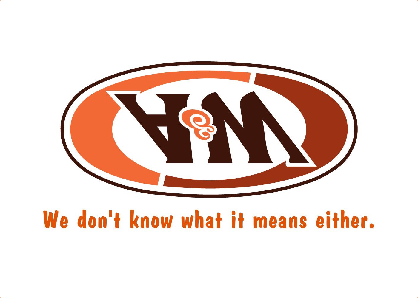 Flipped version of the A&W Restaurants logo. Text underneath reads