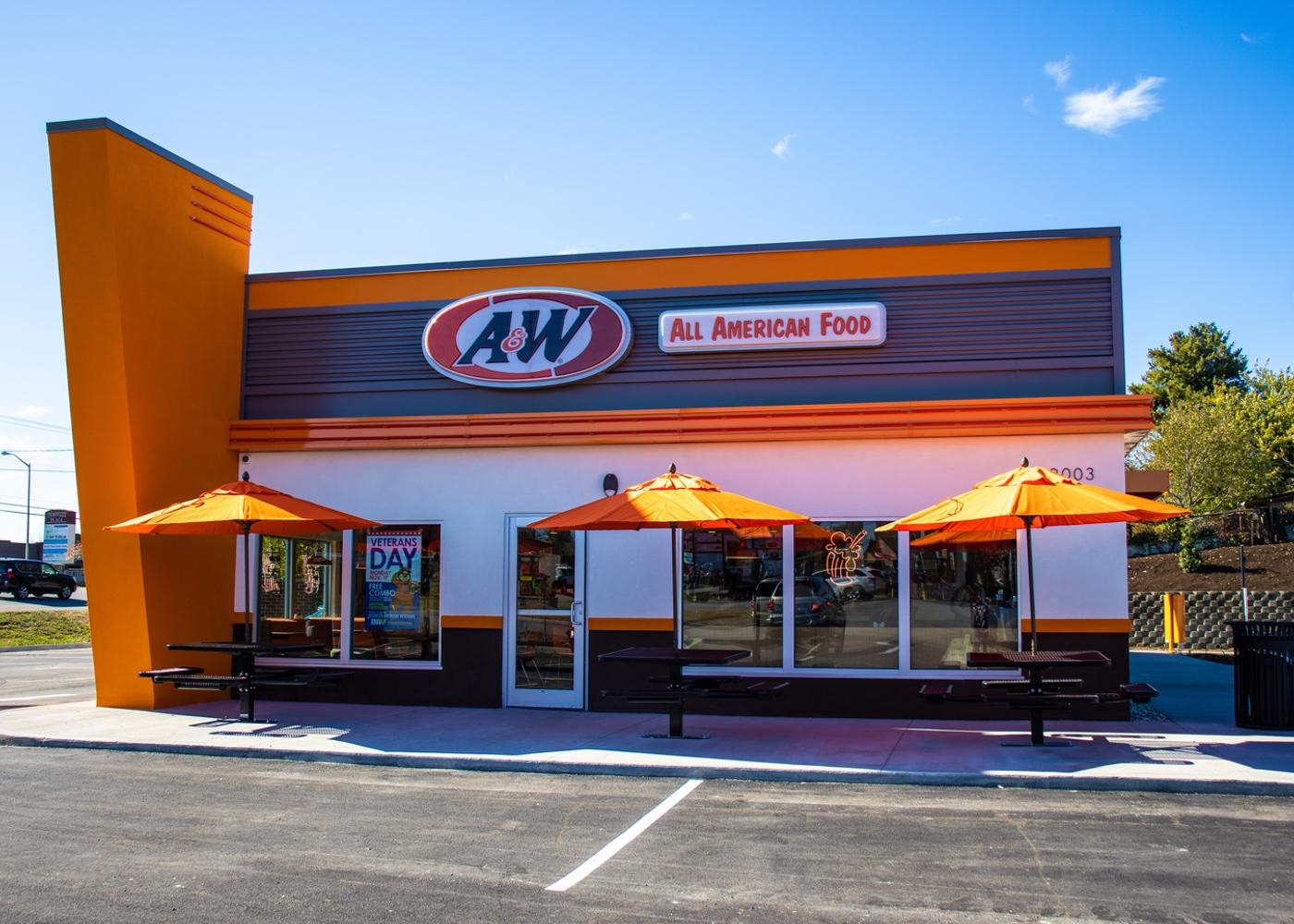 Exterior of A&W Restaurant in Richmond, Kentucky