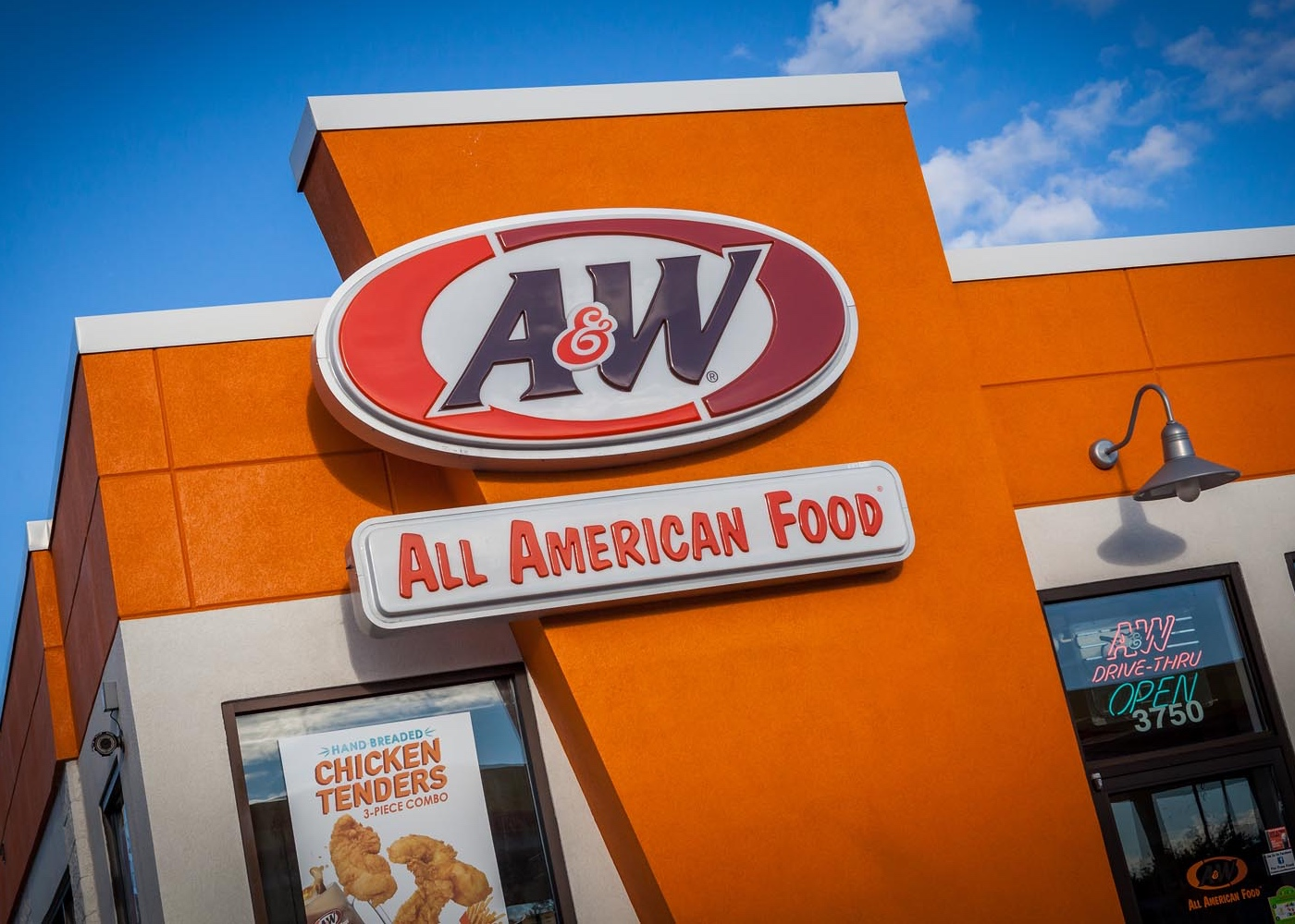 Front of A&W Restaurant