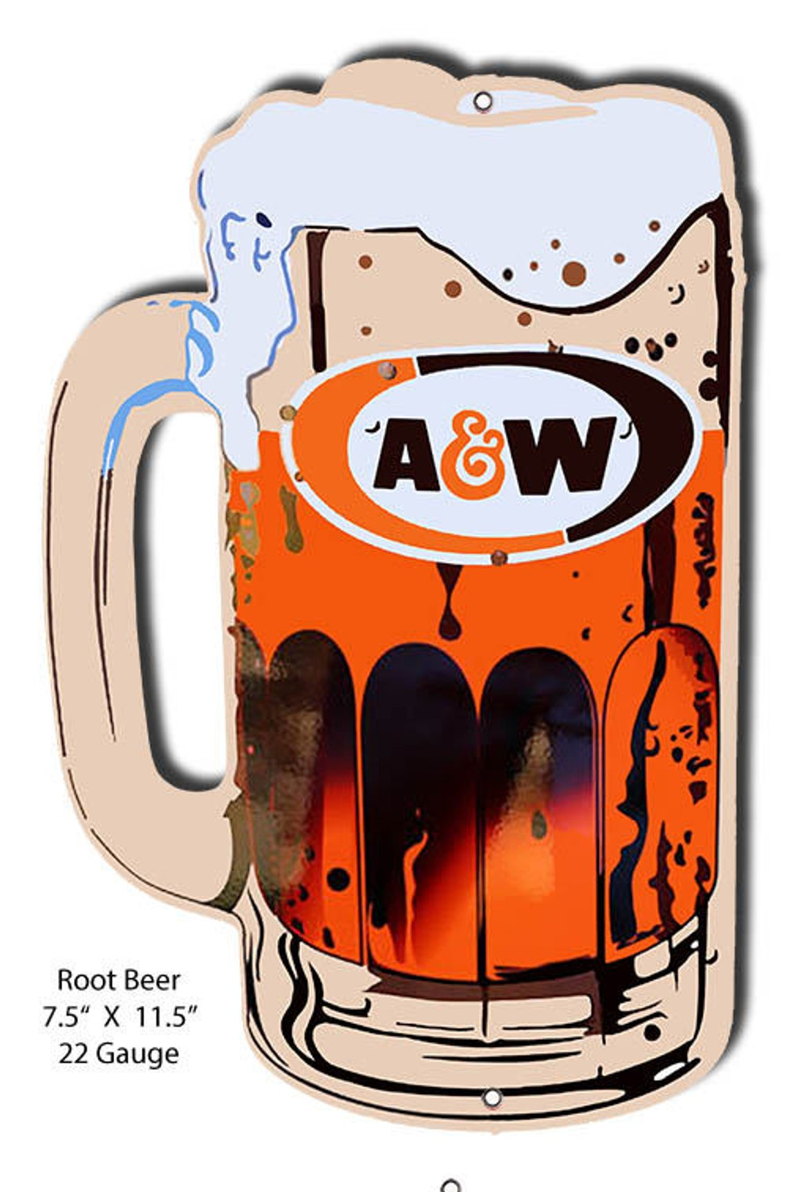 Laser Cut Out Sign of A&W Root Beer Mug