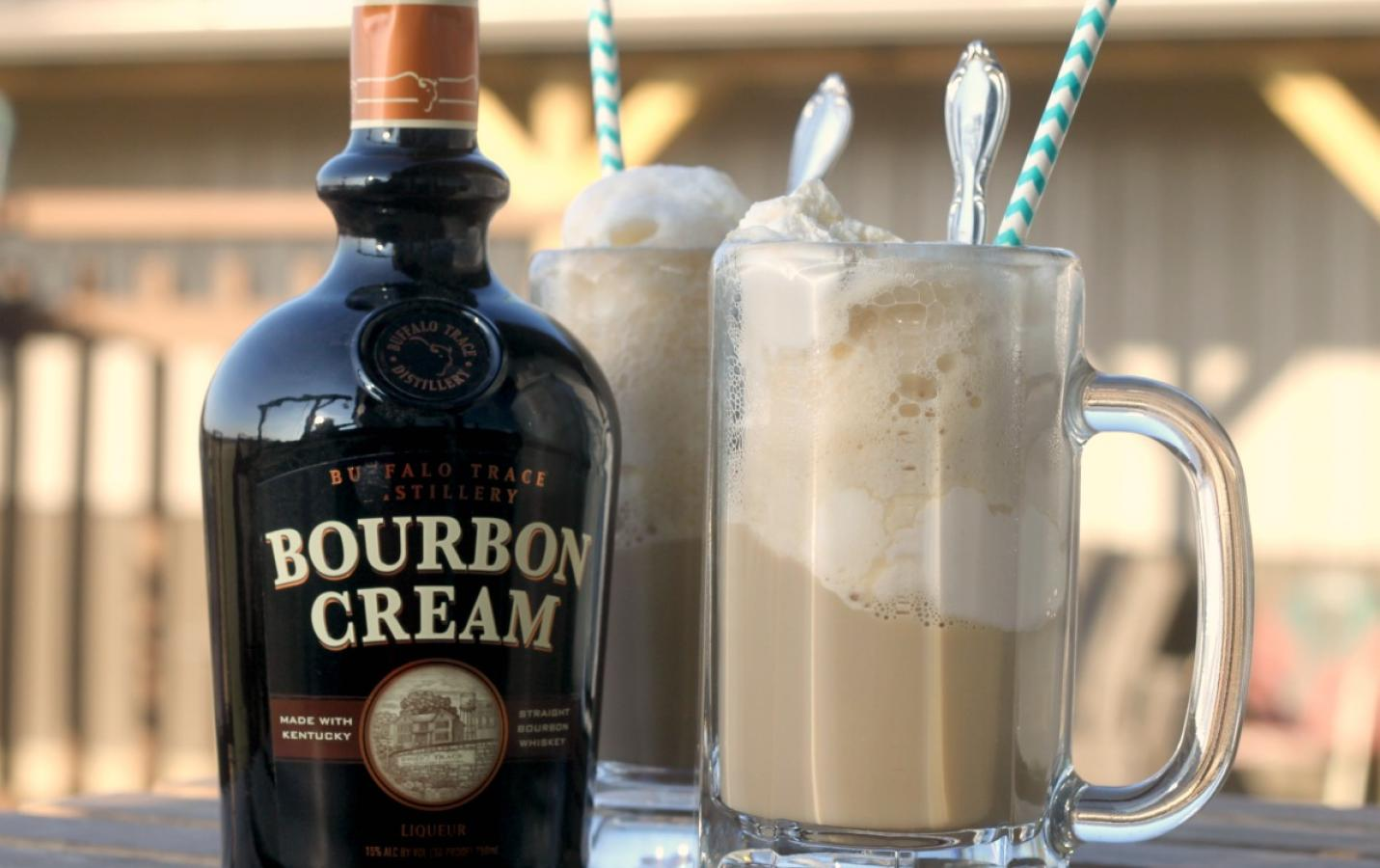 Buffalo Trace Bourbon Cream and Root Beer Float