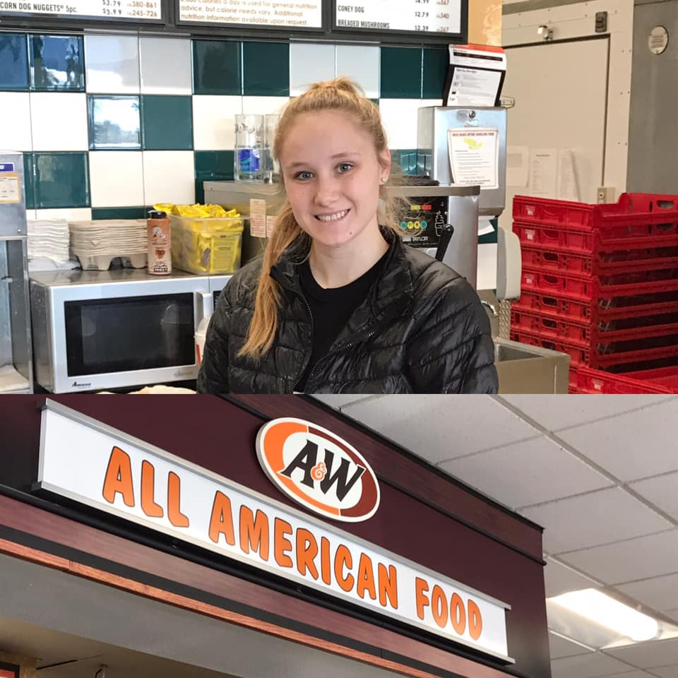 Team Member Mariah at the Cedar Rapids, IA A&W
