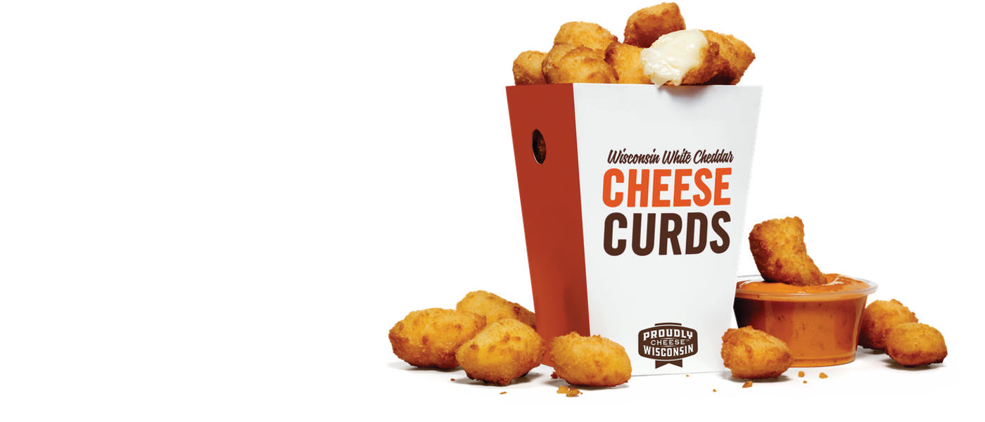 Box of Cheese Curds with Spice Papa Sauce