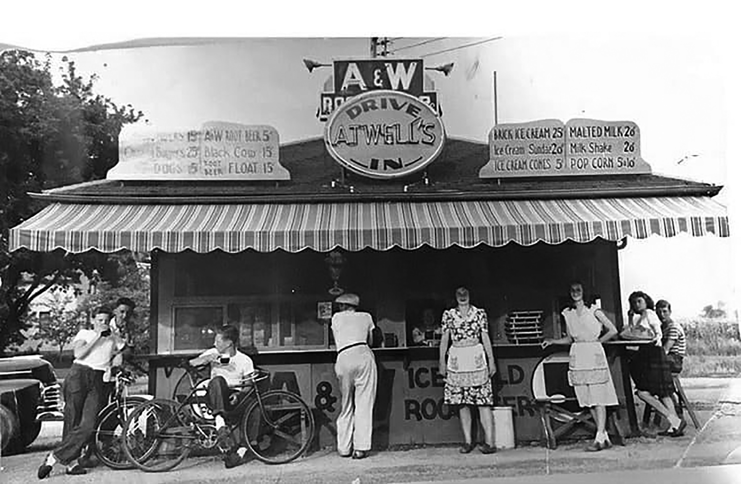 Early A&W Drive-In, Fond du Lac, WI
