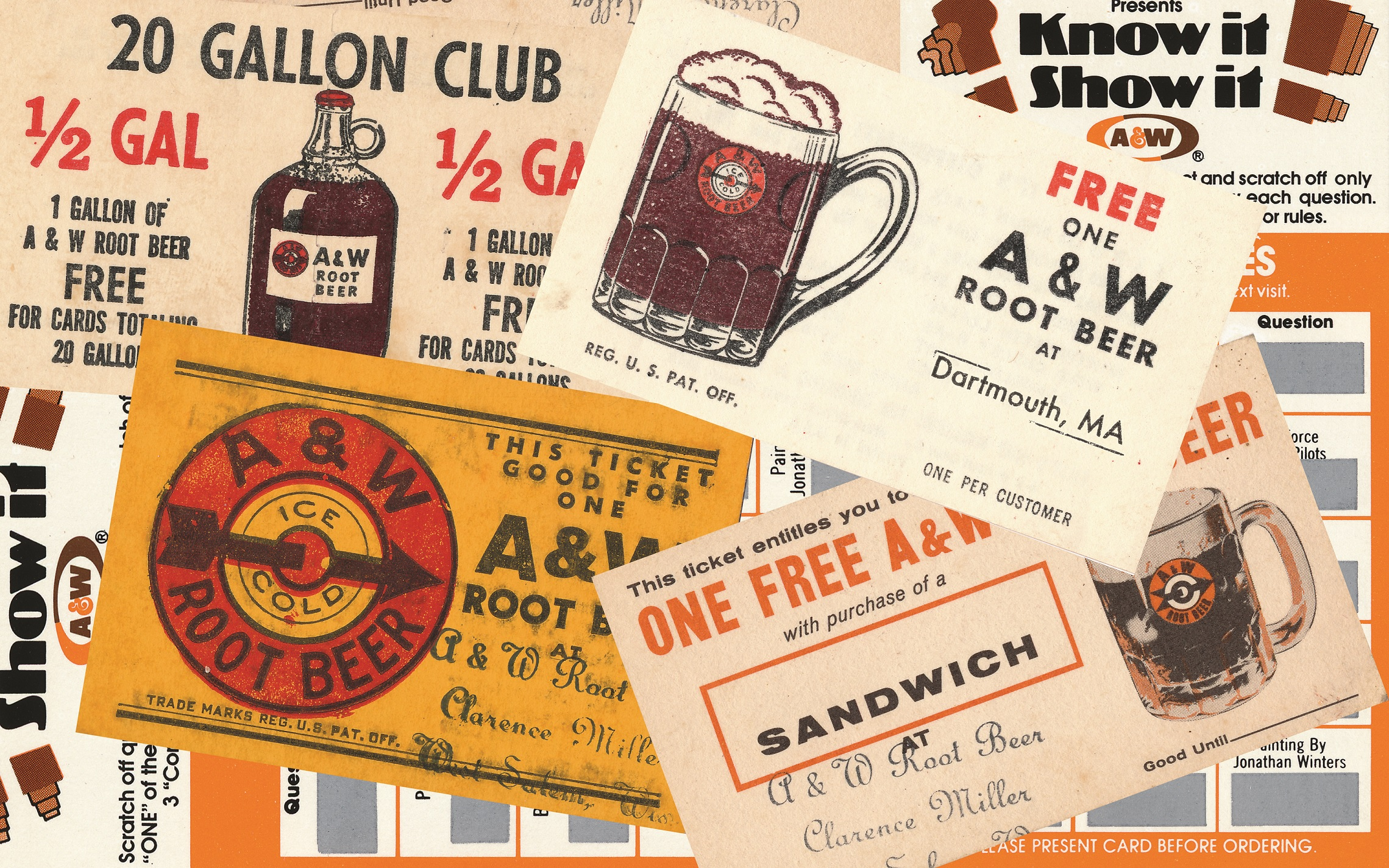 Early Gallon Club cards