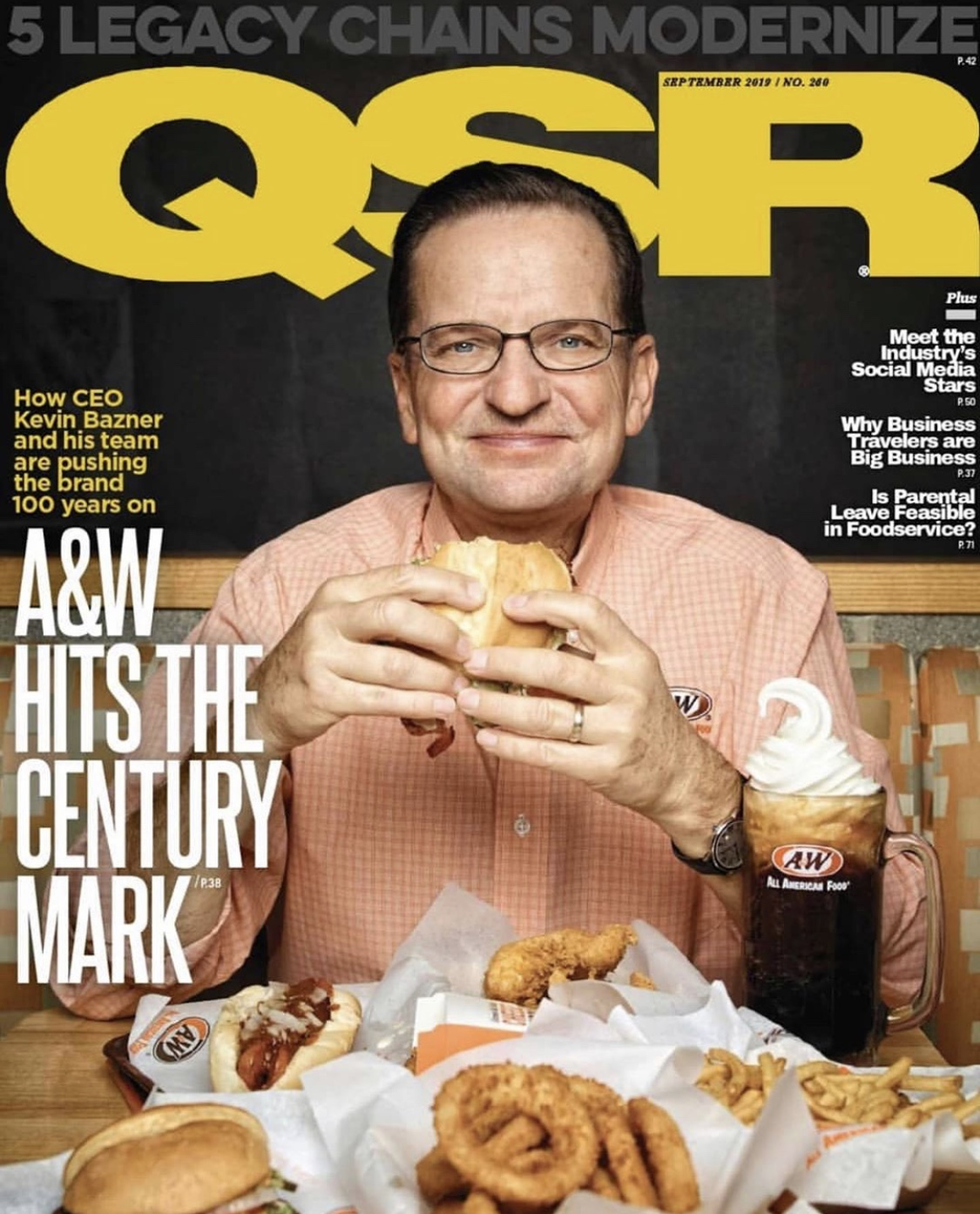 Kevin Bazner on the cover of QSR Magazine