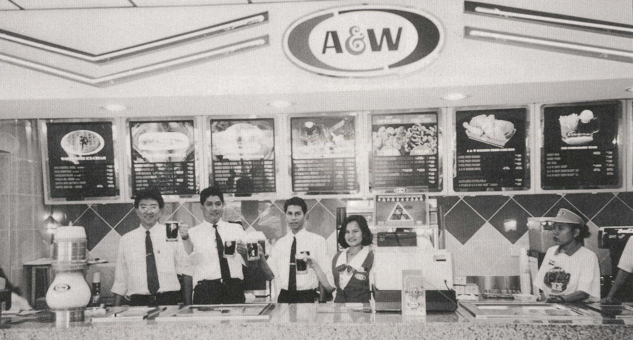 Malaysian A&W Restaurant crew, 1960s