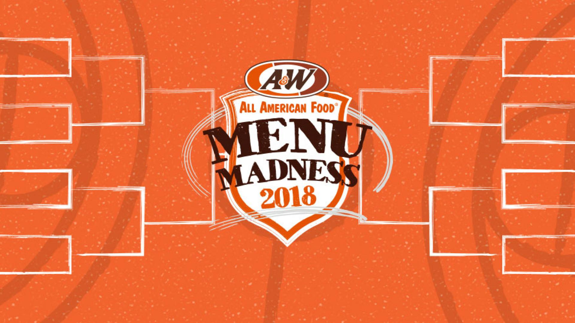 A&W Menu Madness Bracket