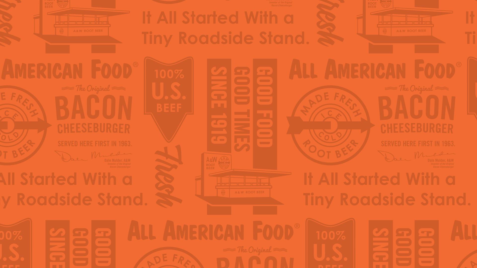 Orange A&W Wallpaper