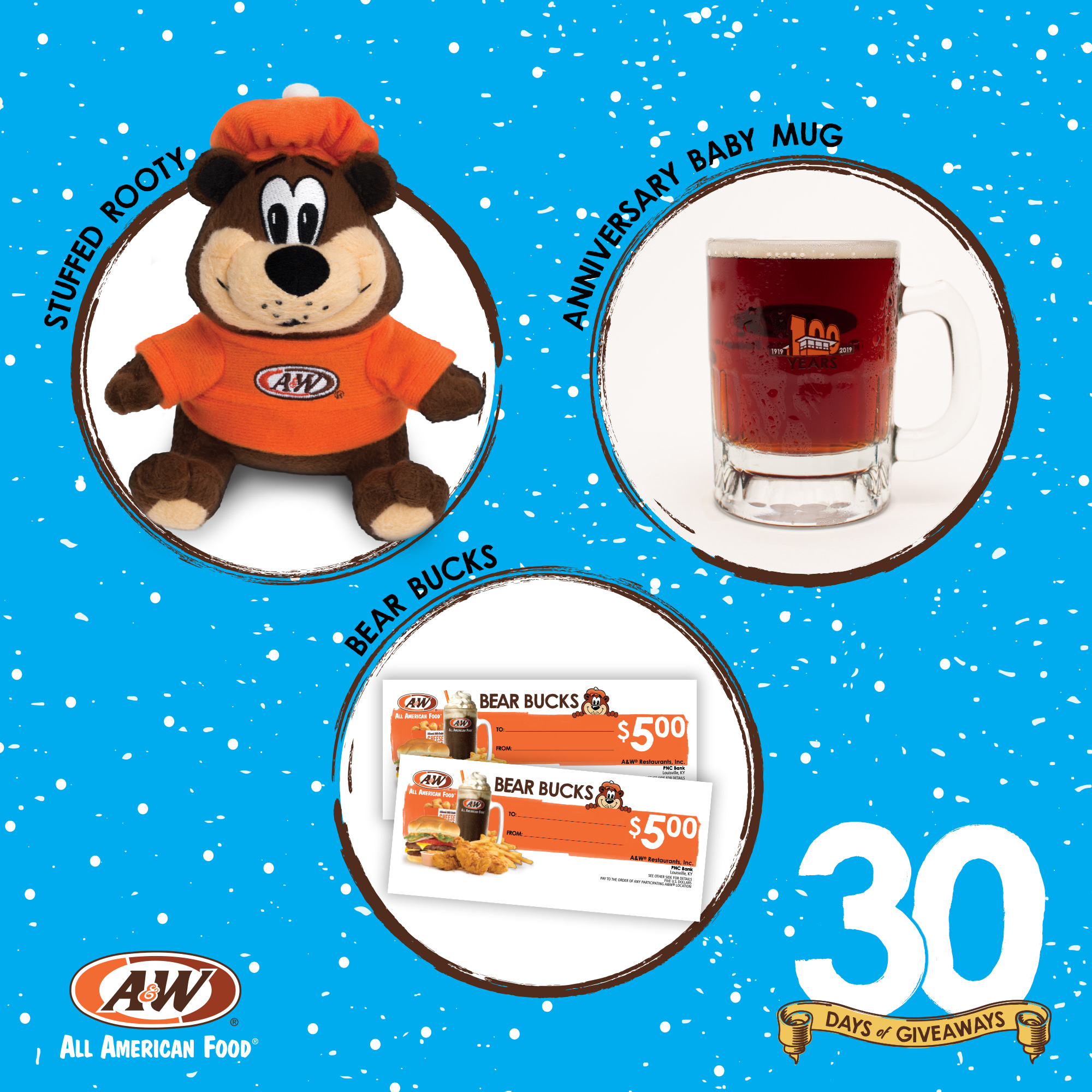 $10 Bear Bucks, Stuffed Rooty, 100th Anniversary Baby Mug