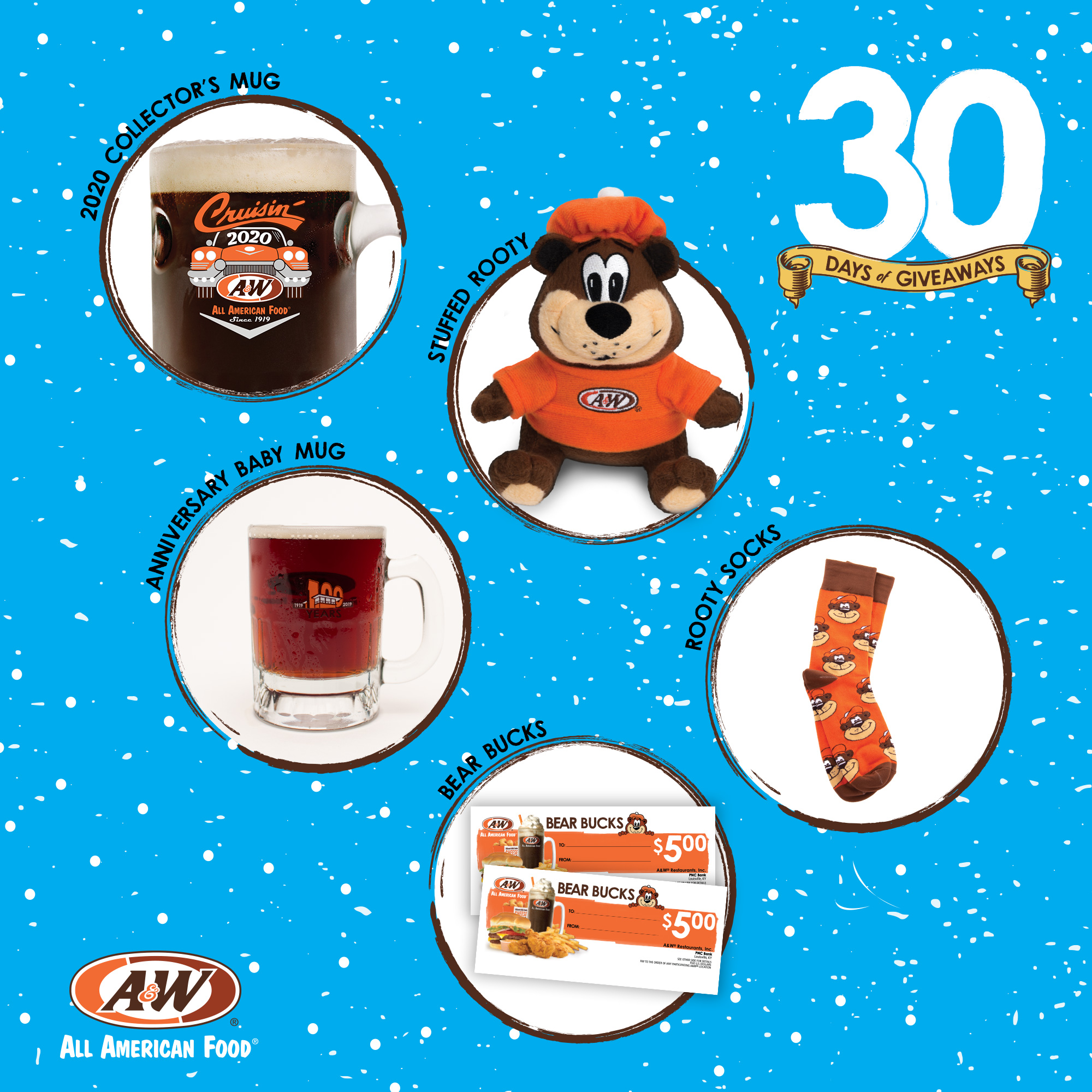 $20 Bear Bucks, Stuffed Rooty, 100th Anniversary Baby Mug, 2020 Collector's Mug, Rooty Socks