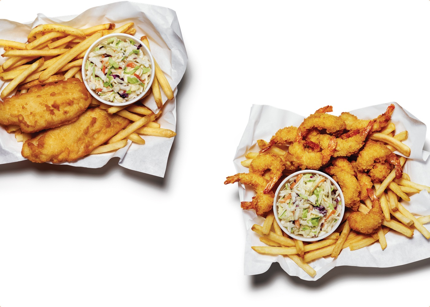 Cod and Shrimp Pub Style Baskets