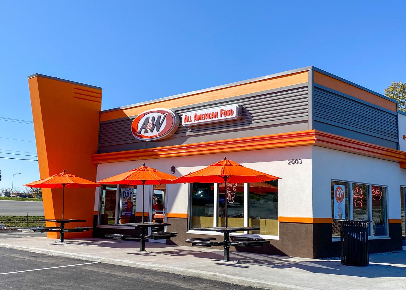 Exterior photo of A&W Restaurant in Richmond, Kentucky.