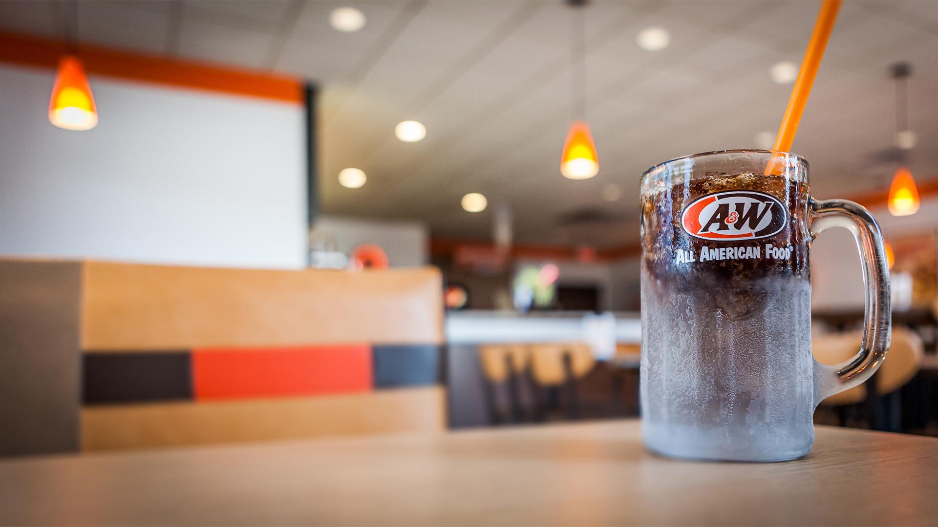Root Beer Mug on Table