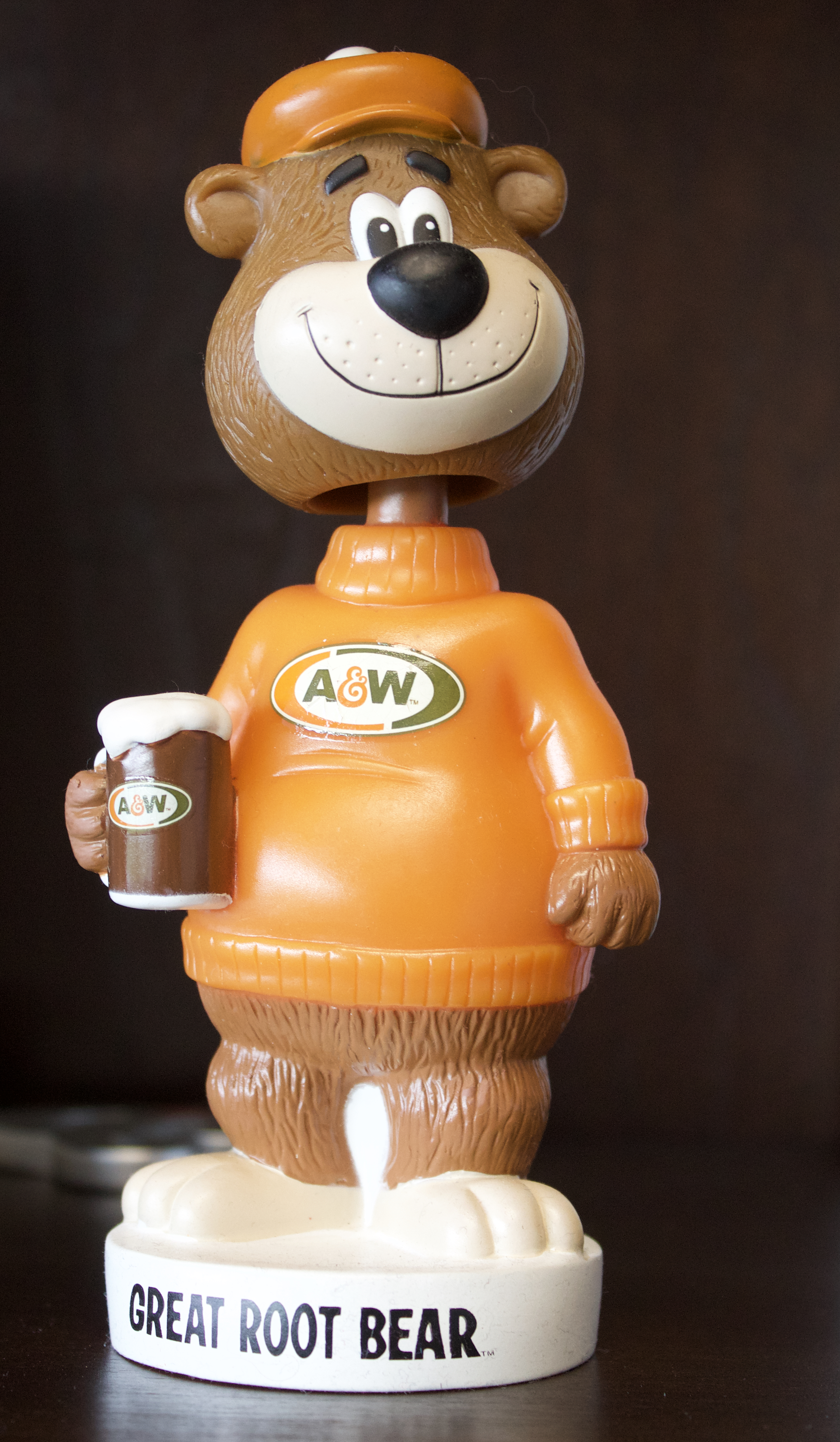 Rooty the Great Root Bear Wacky Wobbler Bobblehead