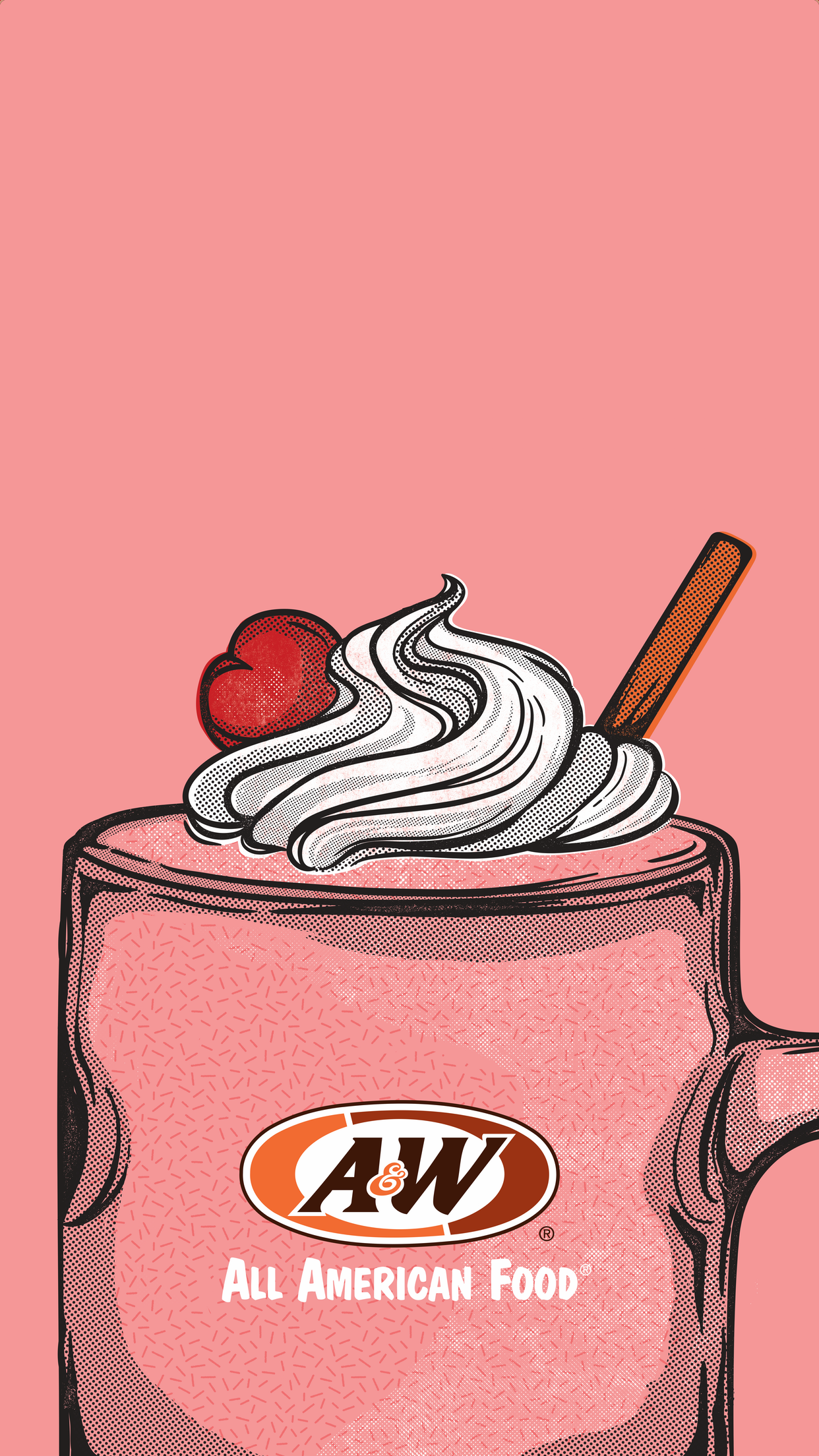 Strawberry shake on pink background