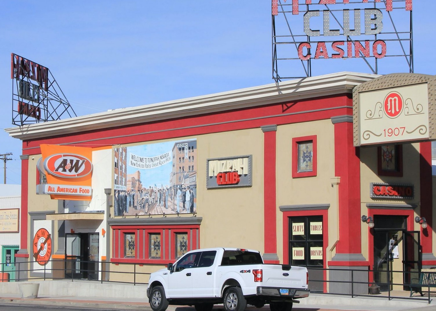 Exterior photo of A&W Restaurant in Tonopah, Nevada
