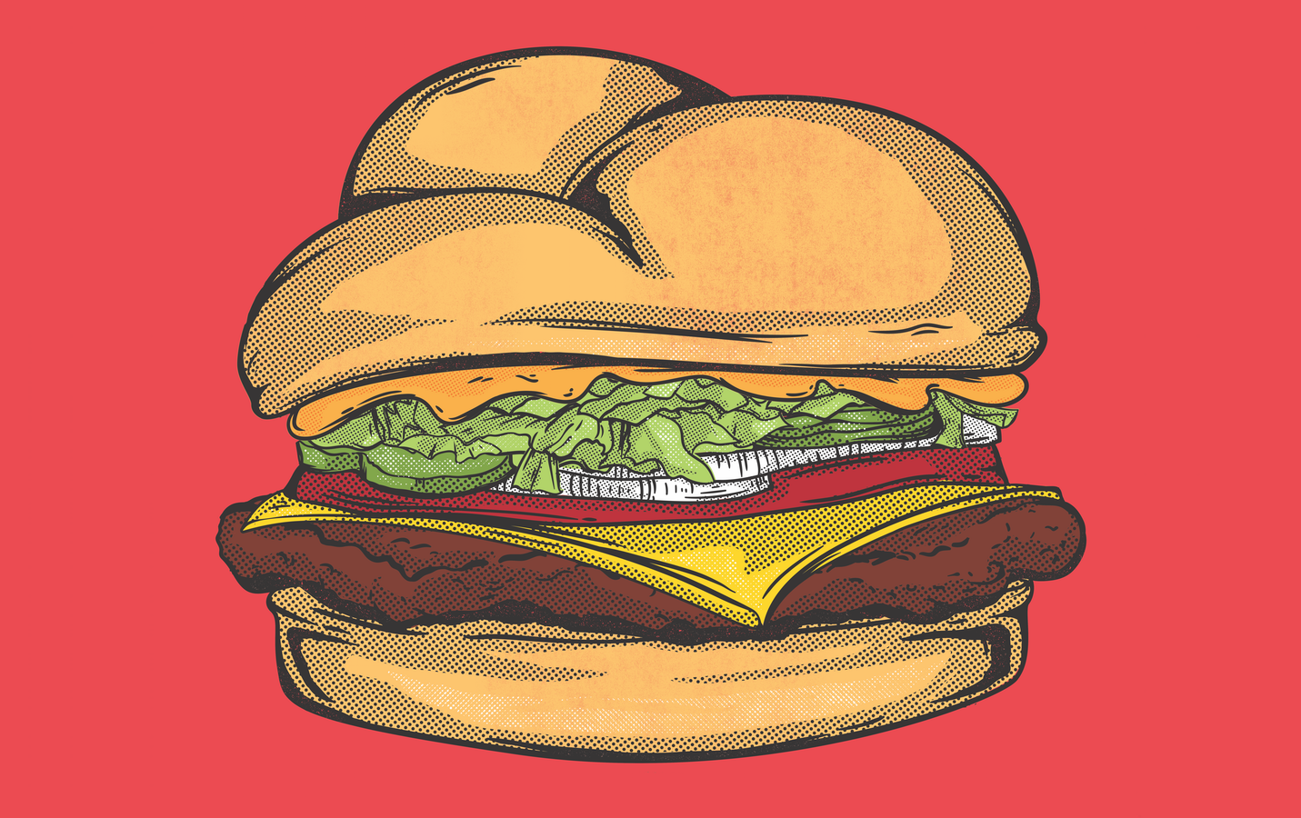 Burger Pop Art